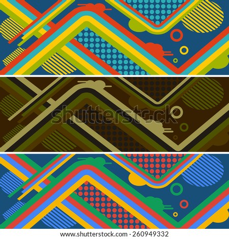 set of abstract creative pattern for skateboard. vector illustration eps10 - stock vector