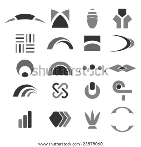 Set of abstract design elements - stock vector