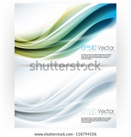 set of abstract elegant theme background illustration. eps10 vector format - stock vector