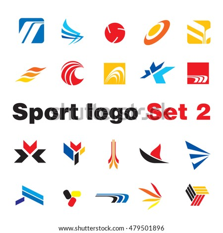 set abstract elements logo design stock vector 26601496 shutterstock