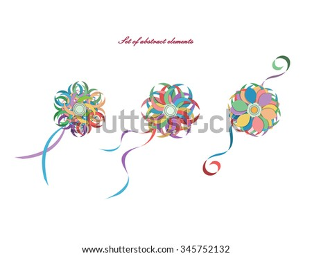 Set abstract elements vector can be stock vector 345752132 can be used in different ways background m4hsunfo