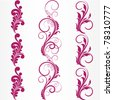 Set of abstract floral patterns. Element for design. - stock photo
