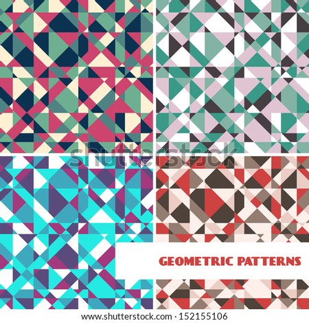 Set of abstract geometric patterns