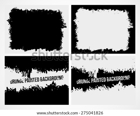 Set of abstract grunge frame texture background and banner. Vector illustration - stock vector