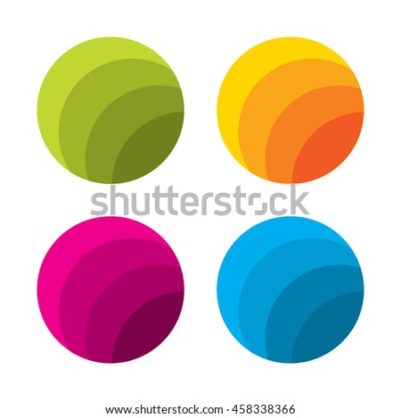 Set of abstract logo template. Corporate icons