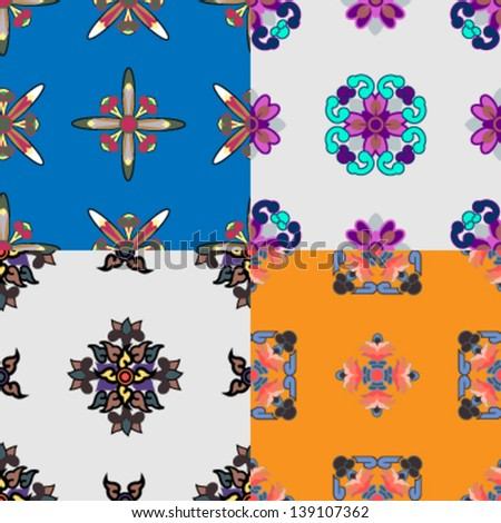 set of abstract seamless backgrounds, vector - stock vector