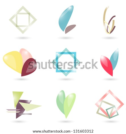 Set of abstract symbols - stock vector