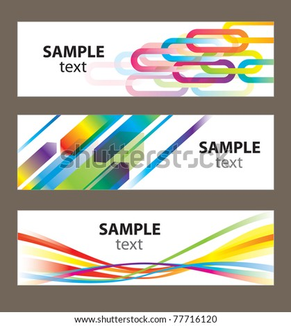Set of abstract vector backgrounds for design - stock vector