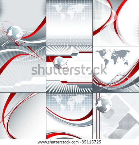 set of abstract vector backgrounds for your presentation. Eps10 - stock vector