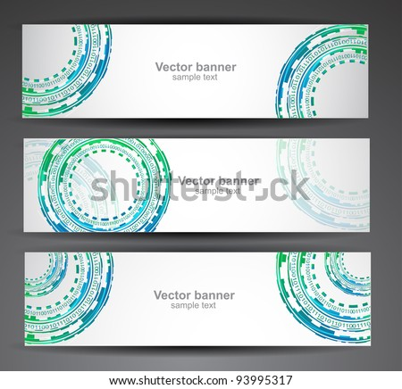 Set of abstract vector banner - stock vector