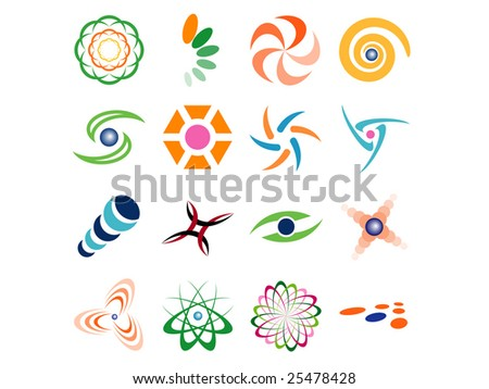 Set of Abstract Vector Design Elements - stock vector