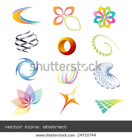 set of abstract vector-icons - stock vector