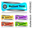 Set of abstract web menu buttons. Vector - stock vector