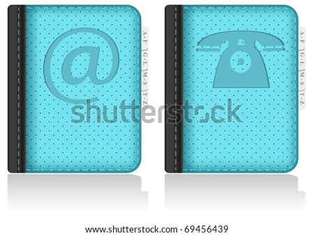 Set of Address book, notebook, phone book. Vector Illustration. EPS8 - stock vector