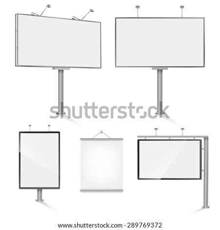 set of advertising outdoor design templates. vector illustration - stock vector