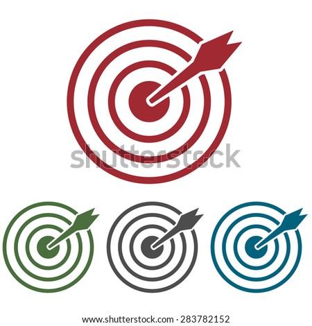 Aim Target Logo Set of Aim Icons Target Flat