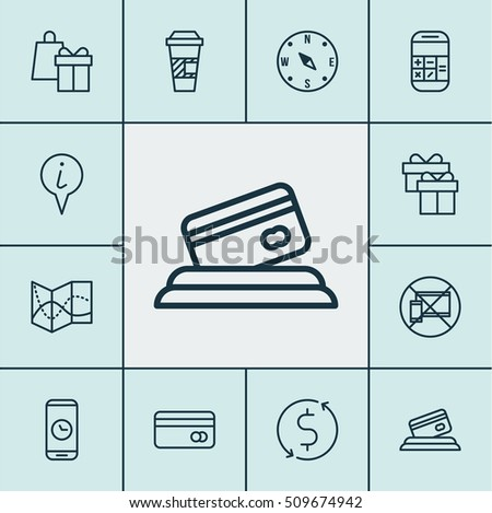 Set Of Airport Icons On Info Pointer, Plastic Card And Locate Topics. Editable Vector Illustration. Includes Mobile, Transfer, Payment And More Vector Icons.