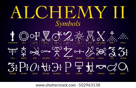 Set alchemy symbols ancient practice shrouded stock vector 502963138 set of alchemy symbols it is an ancient practice shrouded in mystery and secrecy urtaz Gallery