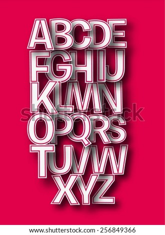 Set of Alphabet Text Design - stock vector