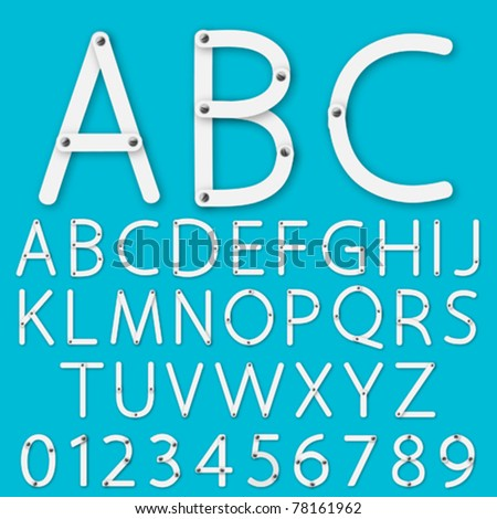 Set of alphabet vector - stock vector