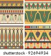 Set of ancient egyptian ornament, vector, seamless pattern - stock photo