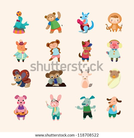 set of animal icons - stock vector