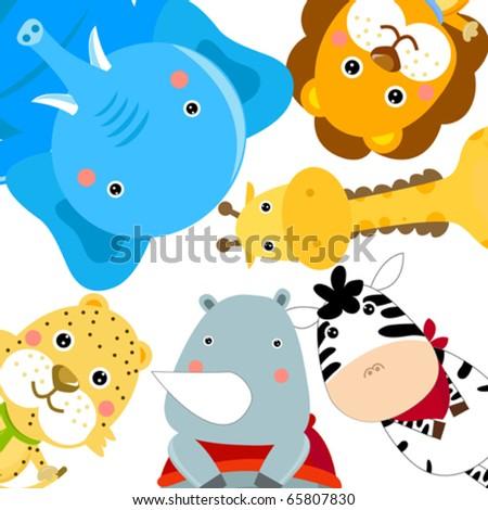 set of animals - stock vector