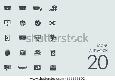 Set of animation icons