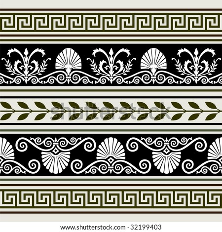 Set of antique borders - stock vector
