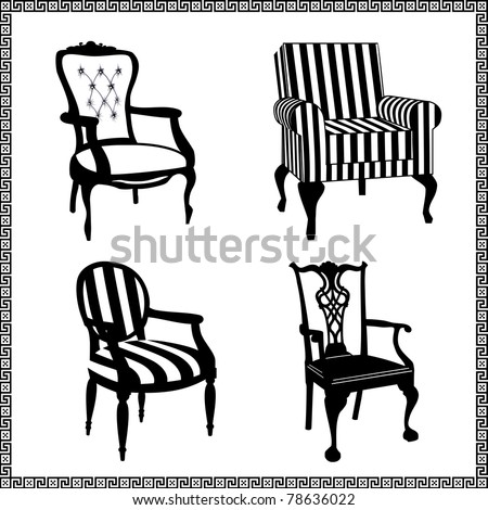 Antique chair stock images royalty free images vectors for Mueble vector