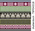 Set of antique greek borders or ornaments. Full scalable vector graphic, repeating design. - stock vector