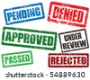Set of approval grunge rubber stamps - stock vector