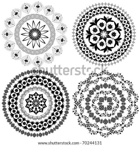 set of arabesque pattern - stock vector