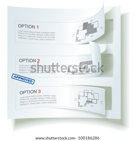 Set of Architectural Web Banners. Isolated on white background, vector clip-art - stock vector