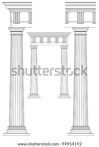 set of architecturaldesign element - stock vector