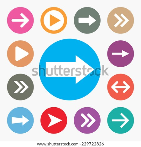 Set of Arrow icons vector illustration  - stock vector