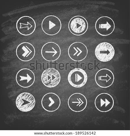set of arrows - stock vector