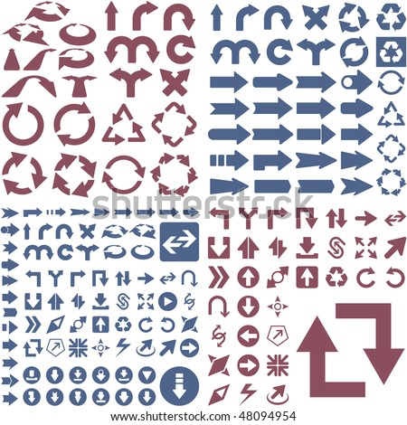 Set of arrows. Vector great collection. - stock vector