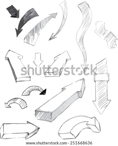 Set of arrows. Vector illustration