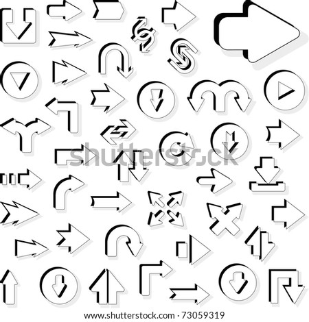 Set of arrows. Vector illustration. - stock vector