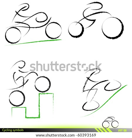 Set of artistic icons. Vector illustration. - stock vector