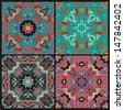 Set of azulejos tiles - stock