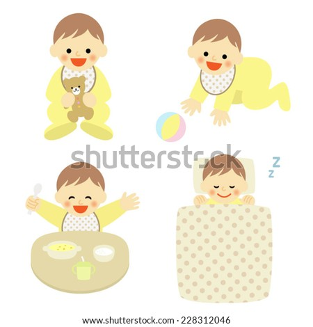 set of babies / Vector EPS 10 illustration - stock vector