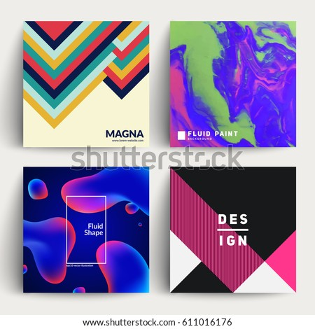 Set of backgrounds with cool design. Applicable for Covers, Placards, Posters, Flyers and Banner Design. Eps10 vector templates.