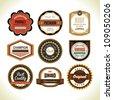 set of badge design - stock vector
