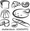 set of baking items - stock vector