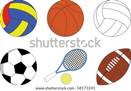 Set of balls for the sport games
