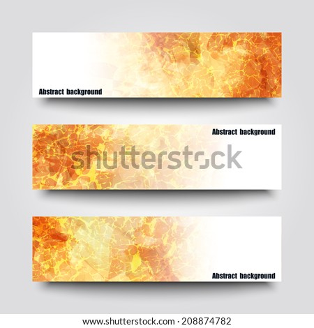 Set of banner templates with abstract background. Eps10 Vector illustration - stock vector