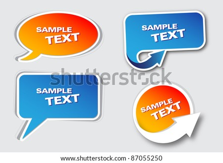 Set of banners - stock vector