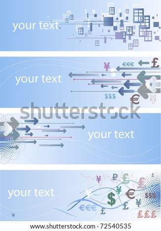 Set of banners for business and finance. 10 EPS Vector - stock vector